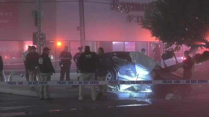 2 Killed In Fiery Crash On Flatbush Avenue In Mill Basin Brooklyn