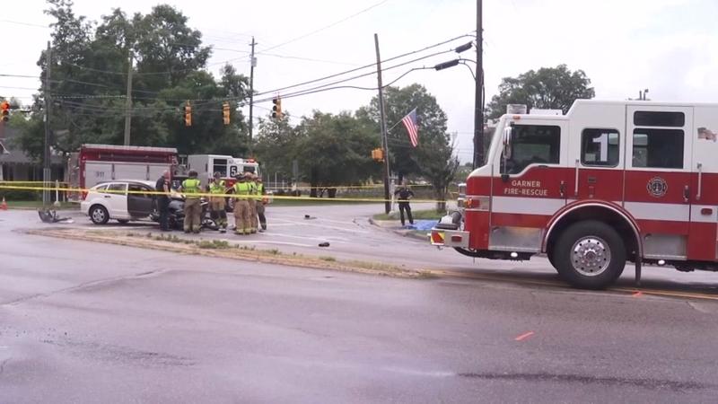 1 dead in Garner motorcycle crash