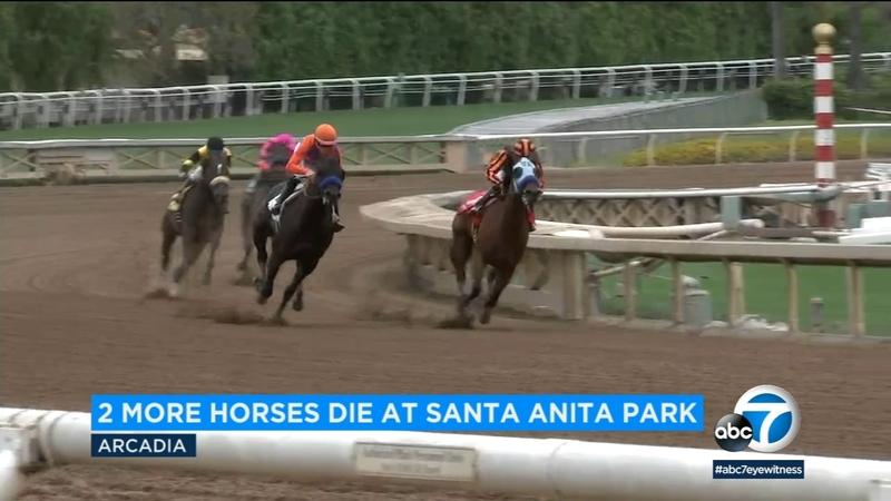 2 more horses die at Santa Anita