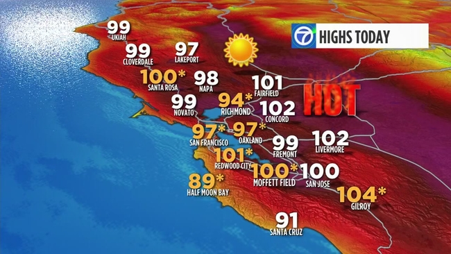Image result for heat wave bay area