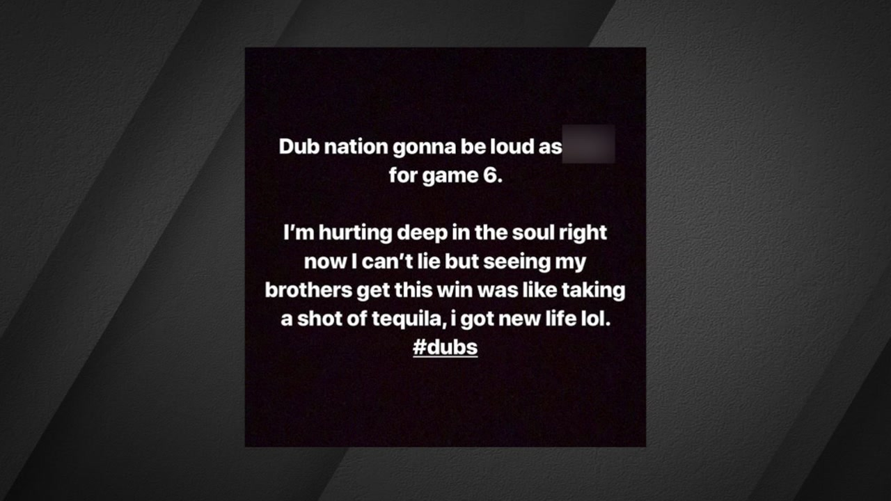 Kevin Durant shared this post on his Instagram story shortly after injuring his Achilles during Game 5 on Monday, June 10, 2019.