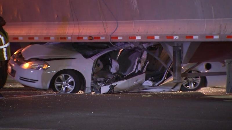 Car Crushed Under 18 Wheeler In Southwest Houston