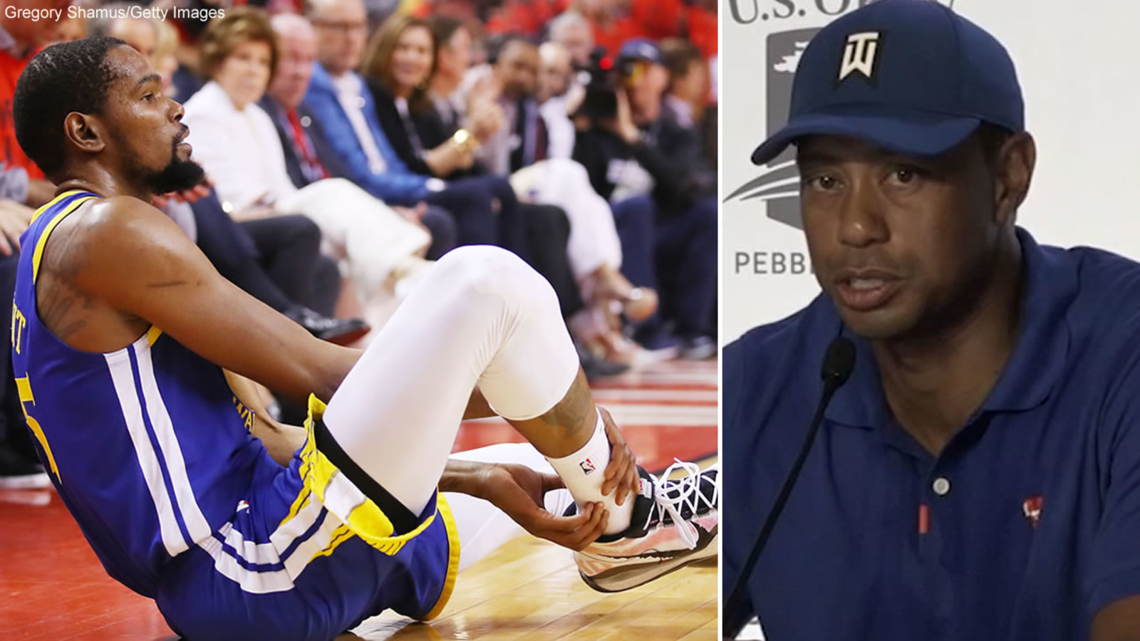 54f85a65 Tiger Woods talks Kevin Durant injury: 'It was sad...I've been there ...