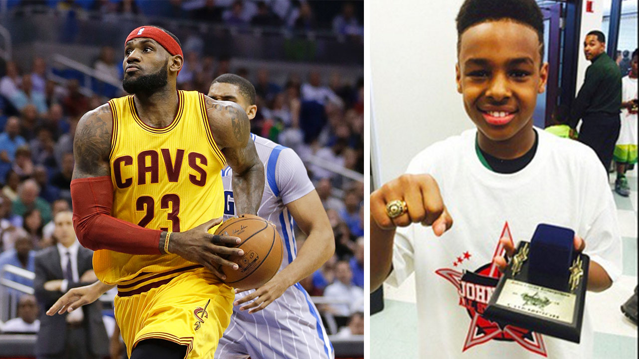 Video: Lebron James' 10-year-old son