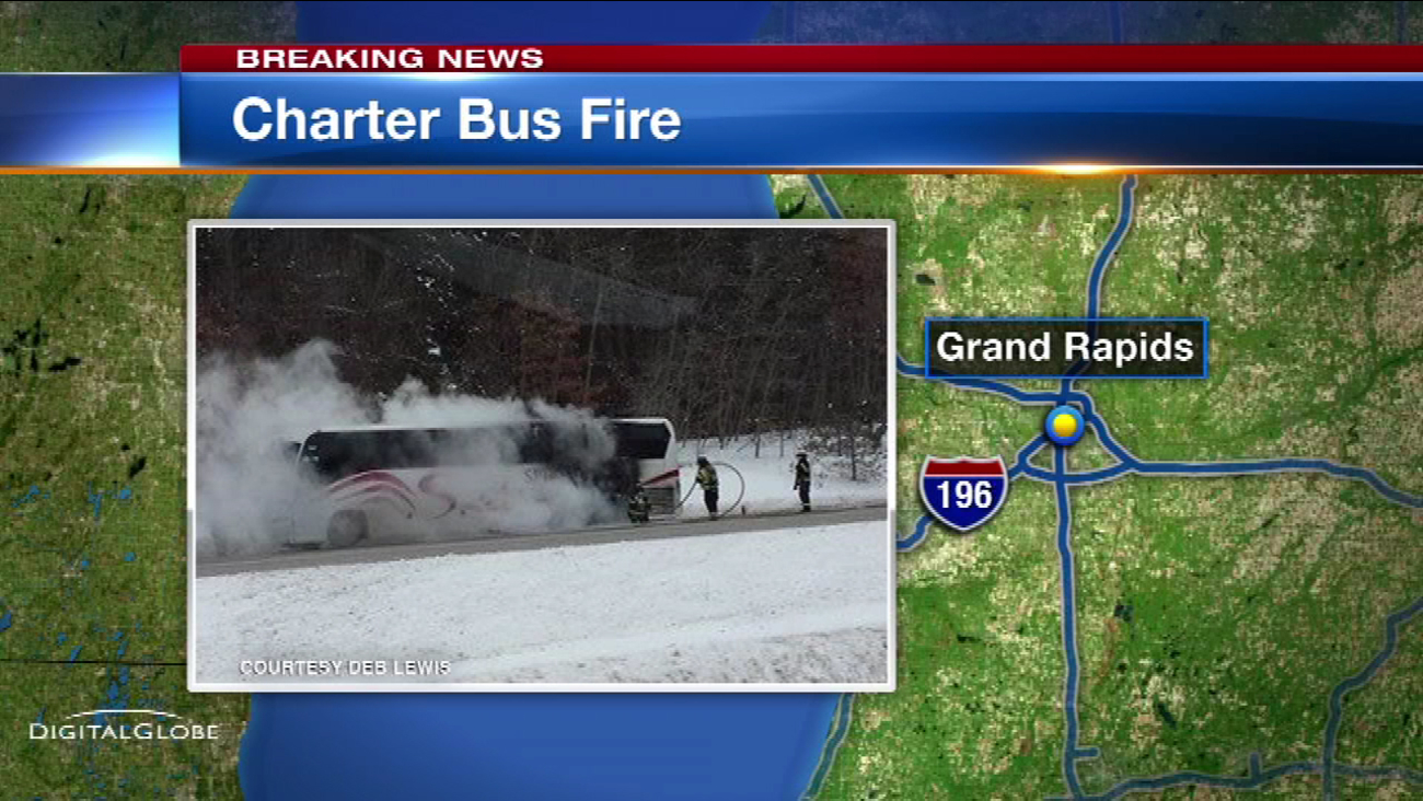 Bus carrying Chicago Heights students catches fire in