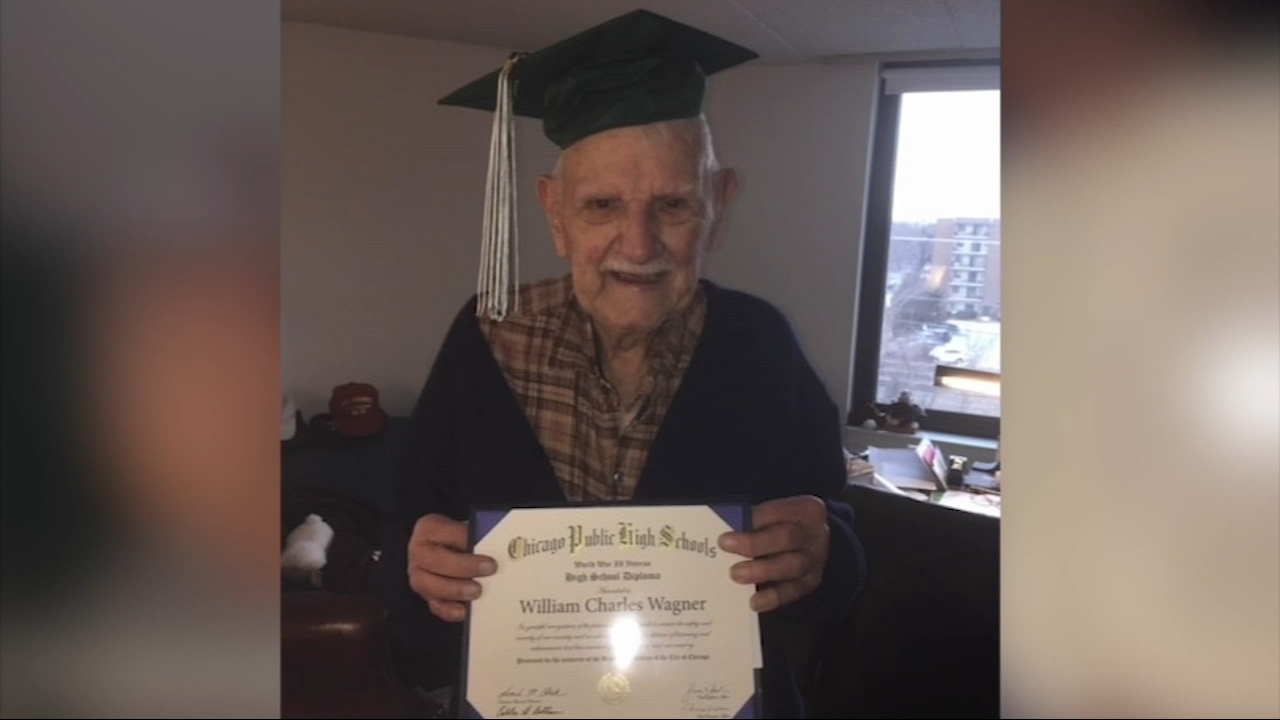 Image result for 94-year-old World War II veteran gets high school diploma in Chicago