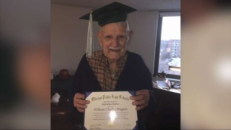 Watch: Chicago man, 94, gets diploma 76 years after leaving