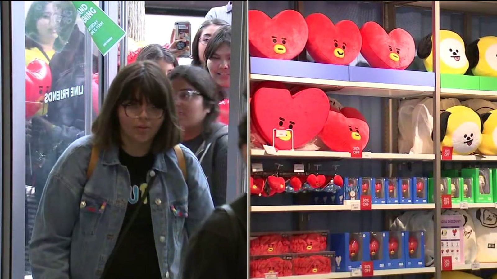 Fans line up in Hollywood for BTS merchandise