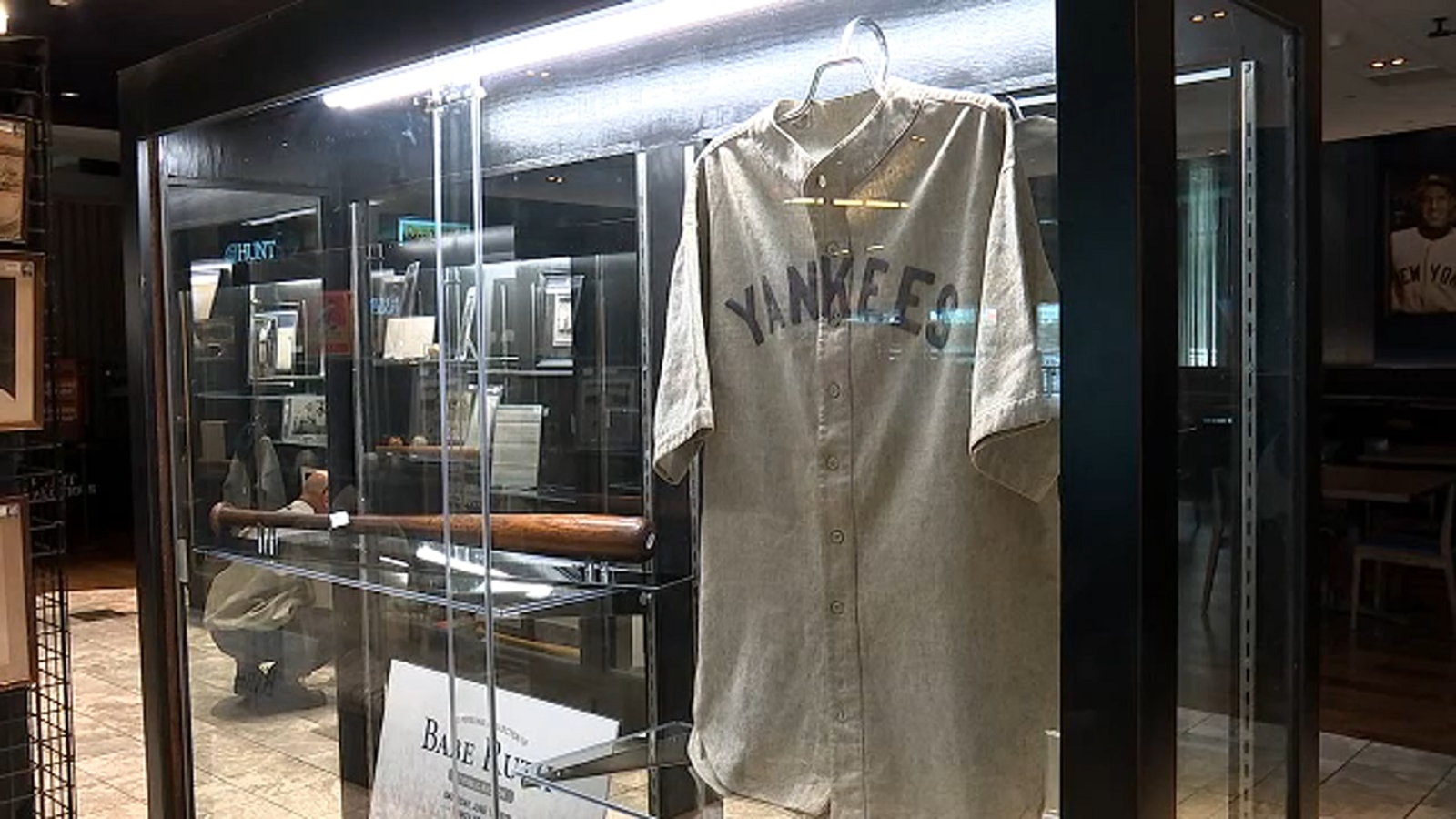 f492bc3a67f Babe Ruth Yankees jersey sells at auction for a record $5.64 million |  abc7ny.com