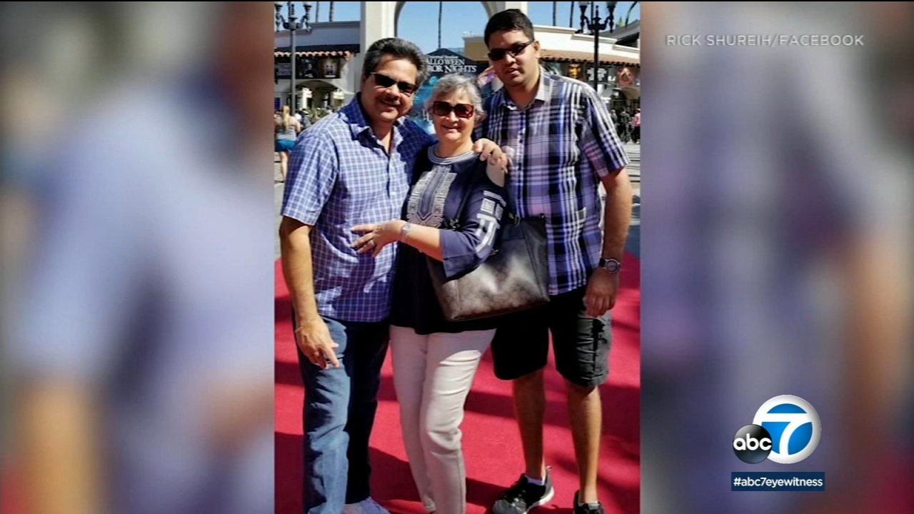 A photo shows Kenneth French, who was fatally shot inside a Costco Wholesale store in Corona, accompanied with his parents.