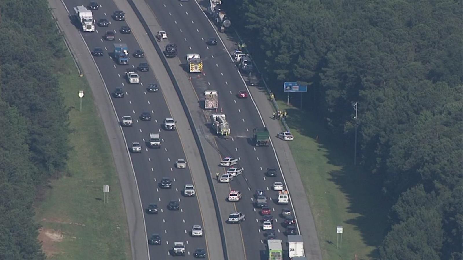 Crash on I-40 in Durham causes major delays Monday morning