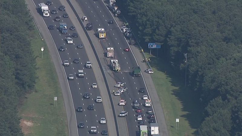 Crash on I-40 in Durham causes major delays Monday morning