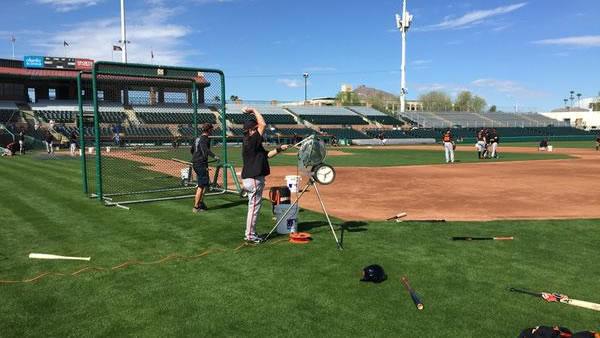 "<div class=""meta image-caption""><div class=""origin-logo origin-image none""><span>none</span></div><span class=""caption-text"">ABC7 Sports Anchor Mike Shumann checks out the San Francisco Giants during Spring Training 2015 in Scottsdale, Arizona on Tuesday, Feb. 24, 2015. (ABC7 News/Mike Shumann)</span></div>"