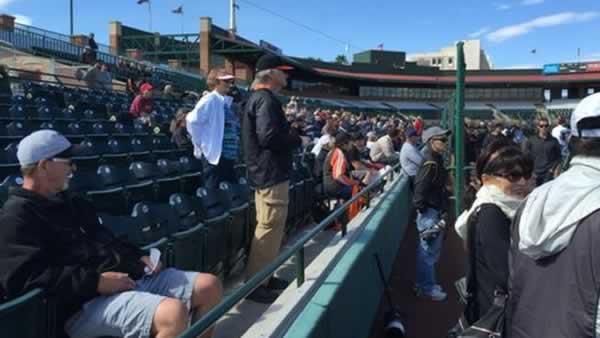 "<div class=""meta image-caption""><div class=""origin-logo origin-image none""><span>none</span></div><span class=""caption-text"">Baseball fans watch the San Francisco Giants during Spring Training in Scottsdale, Arizona on Tuesday, Feb. 24, 2015. (ABC7 News/Mike Shumann)</span></div>"