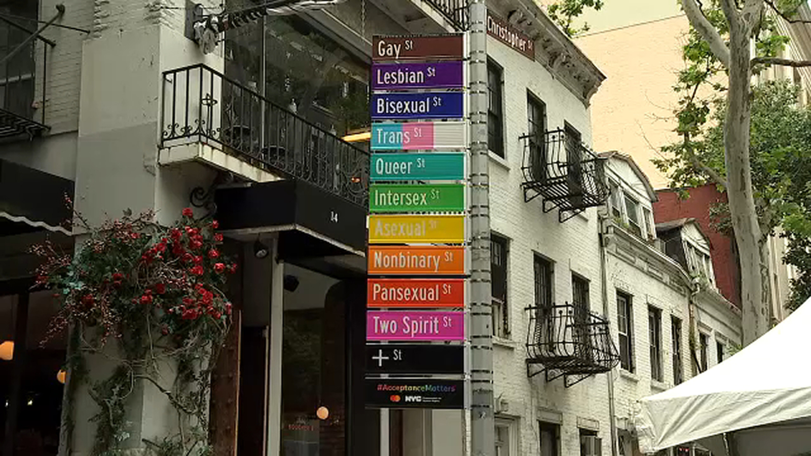 Gay Street in Greenwich Village renamed 'Acceptance Street' for Pride Month