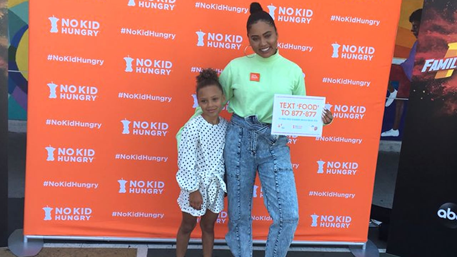 Ayesha joins forces with No Kid Hungry to raise awareness about food insecurity, child hunger