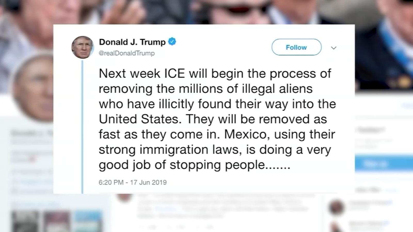 President Trump threatens mass deportation to begin next week