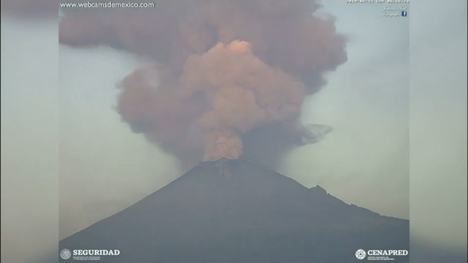 Mexico's Popocatepetl volcano erupts, spews gas, ash into the air