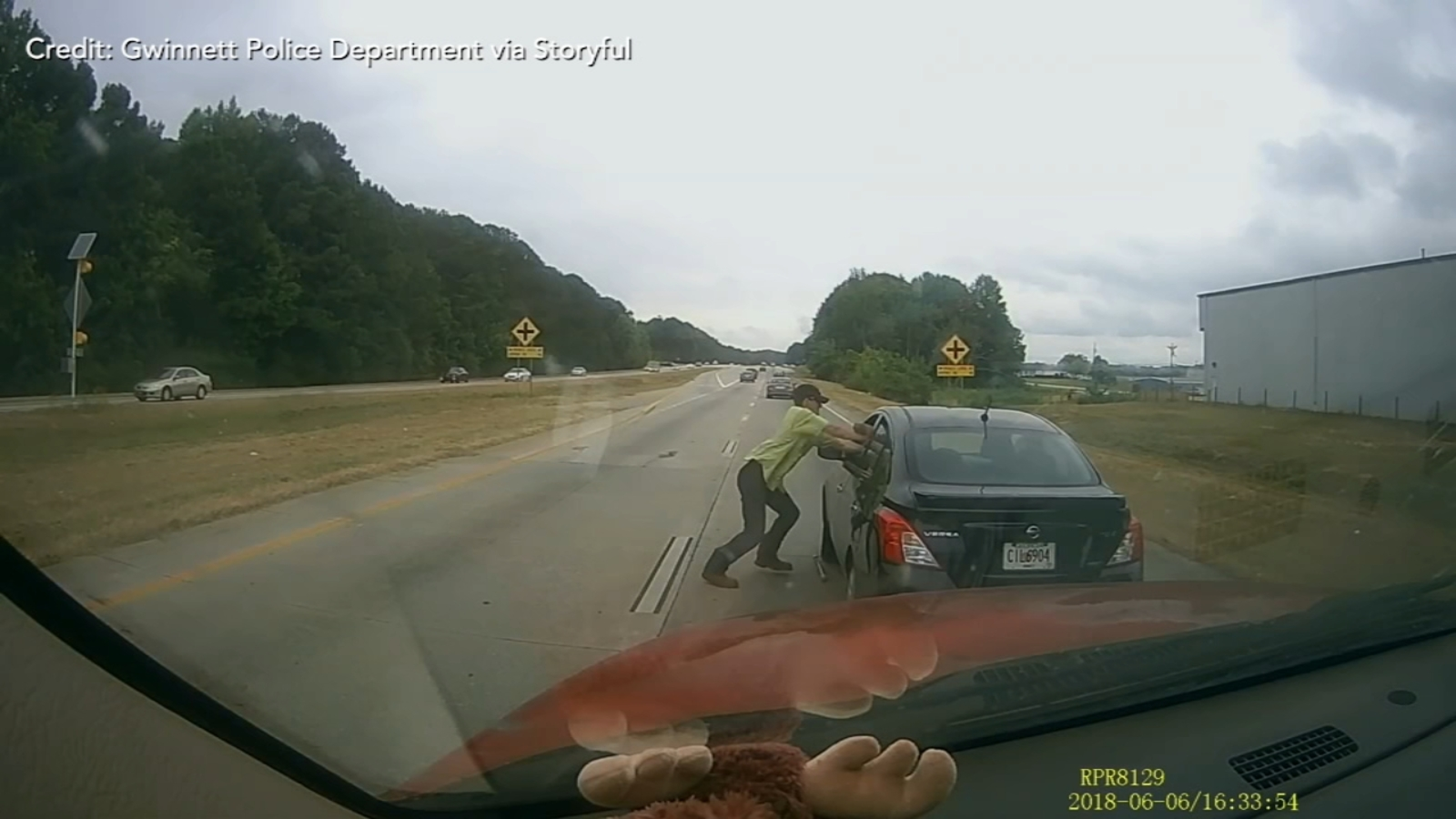 VIDEO: Man dragged down highway during road rage incident