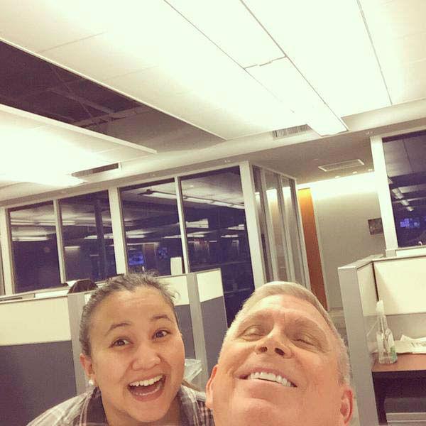 "<div class=""meta image-caption""><div class=""origin-logo origin-image none""><span>none</span></div><span class=""caption-text"">Don posed for a selfie with producer Nichole (KTRK Photo)</span></div>"
