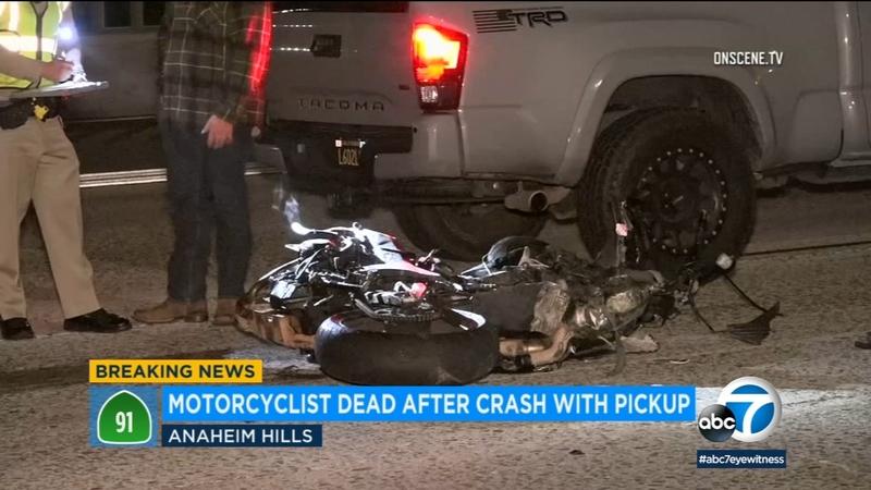 Motorcyclist killed in crash on 91 Freeway in Anaheim Hills