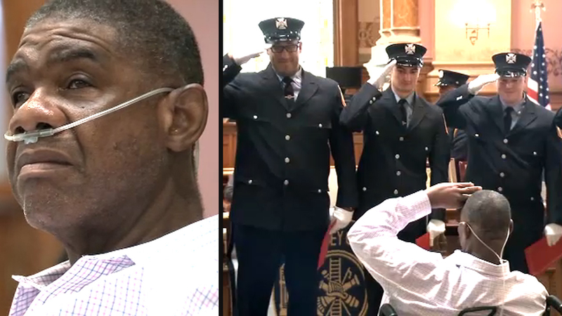 Man who visited New Jersey firehouse for 55 years named honorary chief
