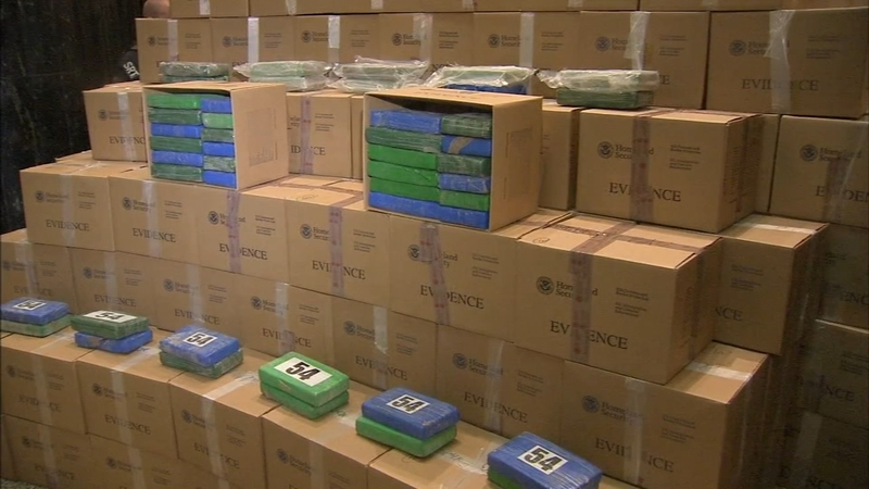 Authorities unveil stacks of seized cocaine after Philadelphia port bust
