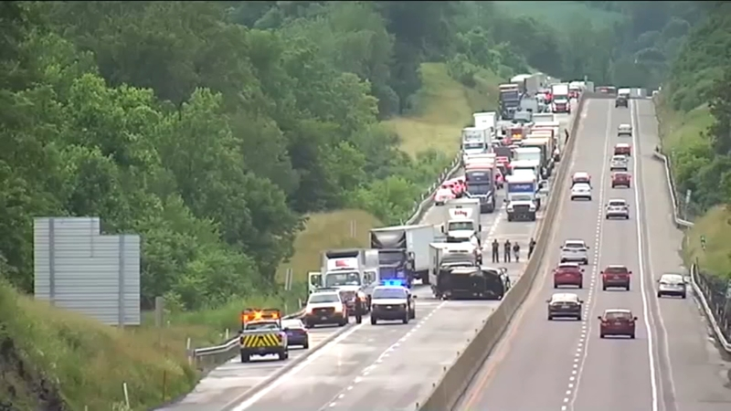 5-year-old girl killed in crash on I-476 in Lehigh County