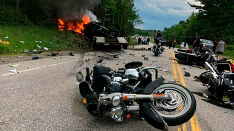Public S Help Sought After 7 Bikers Die In Crash With Pickup