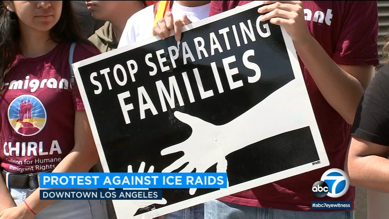 Downtown L.A. rally protests Trump's new deportation plans