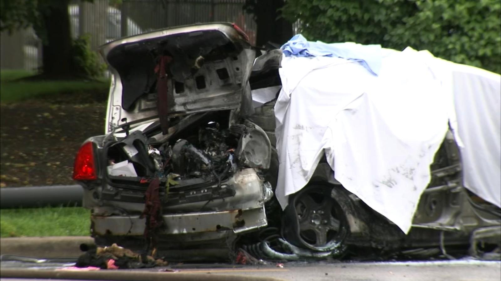 Fiery car crash on West Side kills 3