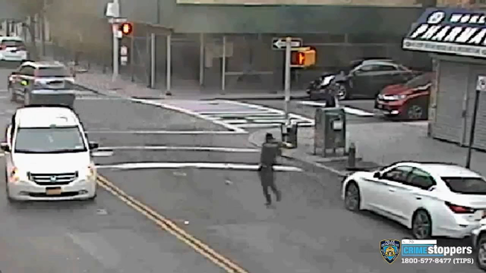 Video: Gunman opens fire running across Bronx street, gets in car and fires more