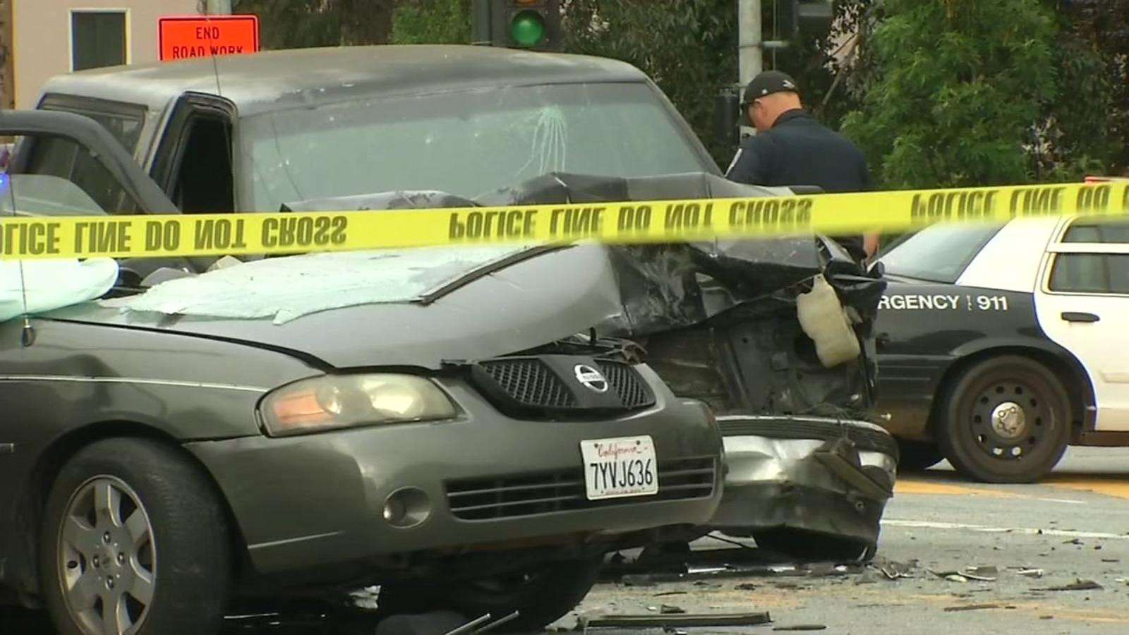 1 dead, 2 injured after crash outside Presidio in San Francisco