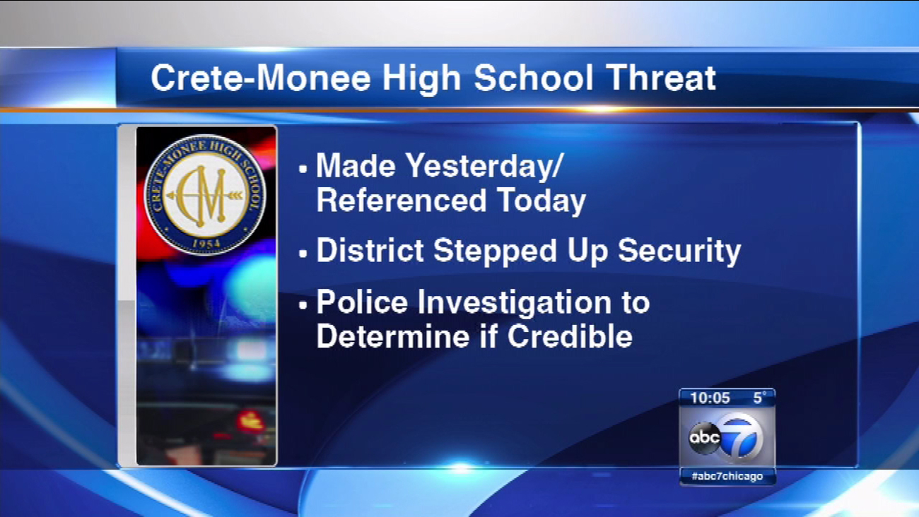 Threat Prompts Increased Security At Crete Monee Hs