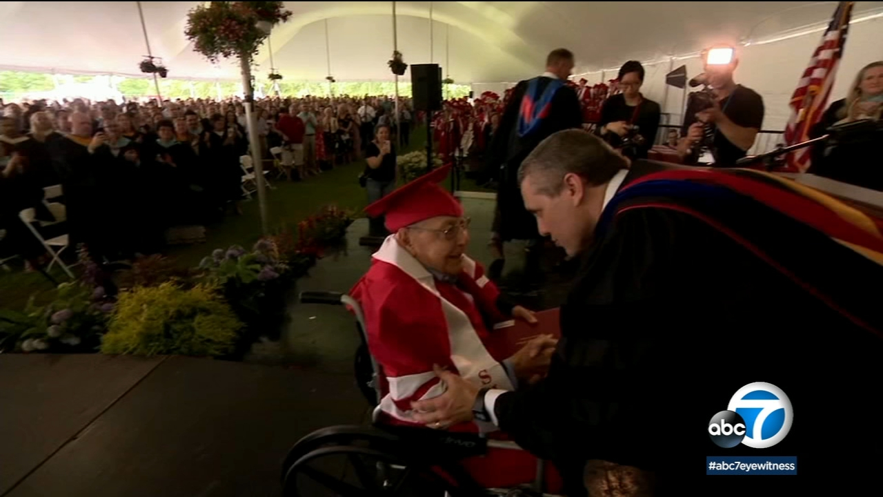 World War II veteran receives high school diploma in New York's