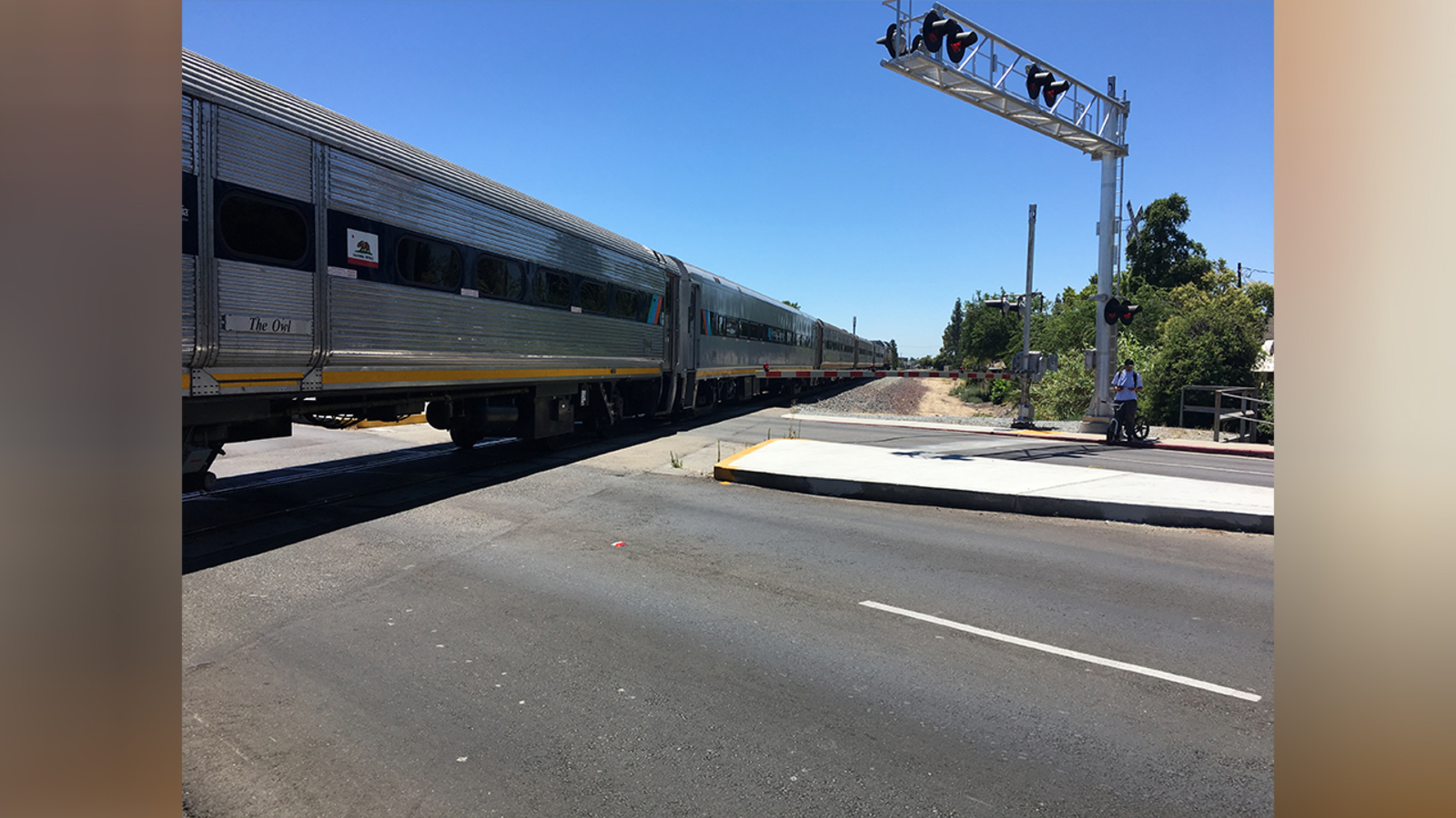 Woman hit by Amtrak train in central Fresno