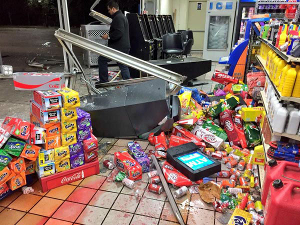 """<div class=""""meta image-caption""""><div class=""""origin-logo origin-image none""""><span>none</span></div><span class=""""caption-text"""">The manager at this store says the burglars couldn't care less about the people inside. Take a look at the damage. (KTRK Photo/ Steve Campion)</span></div>"""