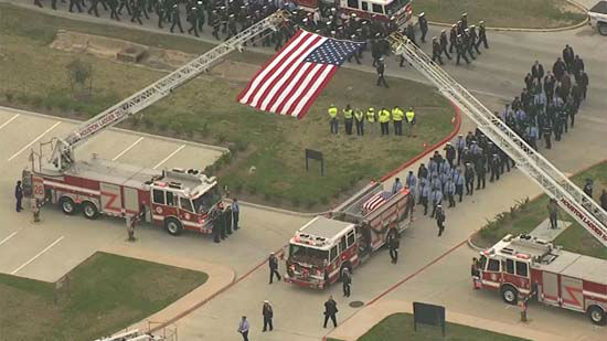"""<div class=""""meta image-caption""""><div class=""""origin-logo origin-image none""""><span>none</span></div><span class=""""caption-text"""">Fellow firefighters, friends and family remembered Houston Fire Department Captain Dwight Bazile at The Church Without Walls in Houston (KTRK Photo/ KTRK)</span></div>"""
