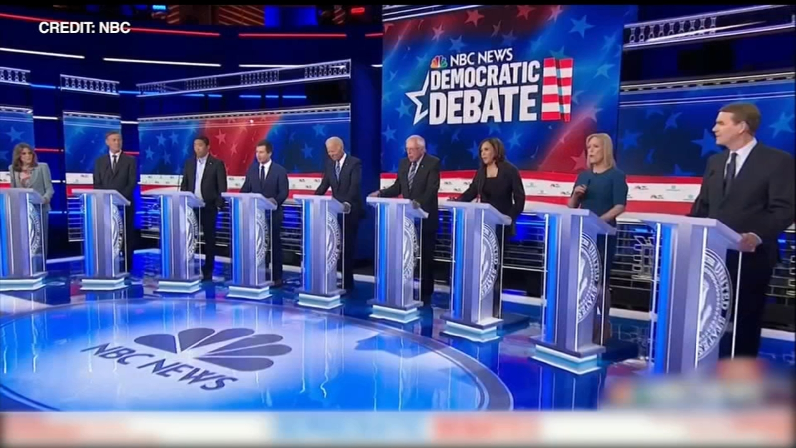 Image result for democratic debate 2019