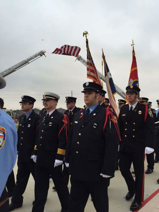 """<div class=""""meta image-caption""""><div class=""""origin-logo origin-image none""""><span>none</span></div><span class=""""caption-text"""">Family, friends and firefighters remembered Houston Fire Department Captain Dwight Bazile at Houston's Church Without Walls (KTRK Photo/ KTRK)</span></div>"""
