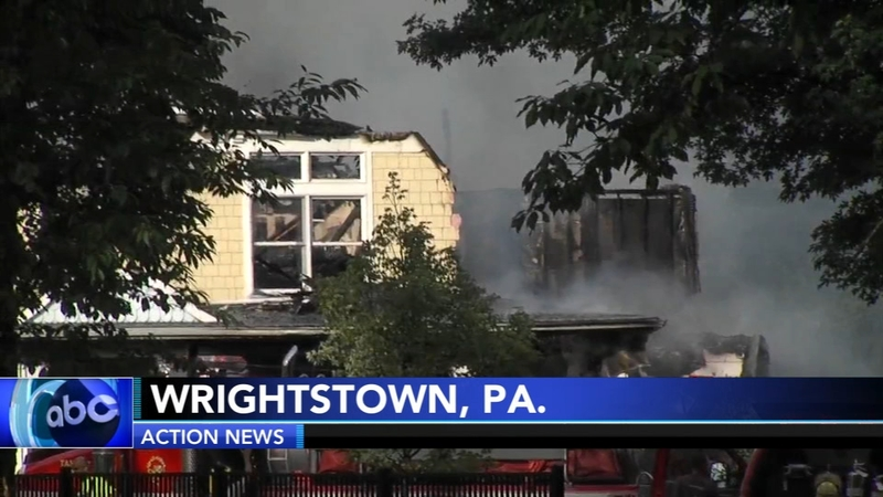 Lightning blamed for 2-alarm house fire in Wrightstown