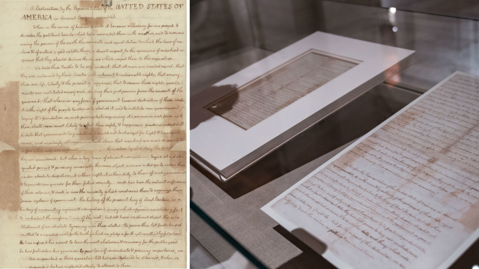 Rare copy of Declaration of Independence on display in New York City