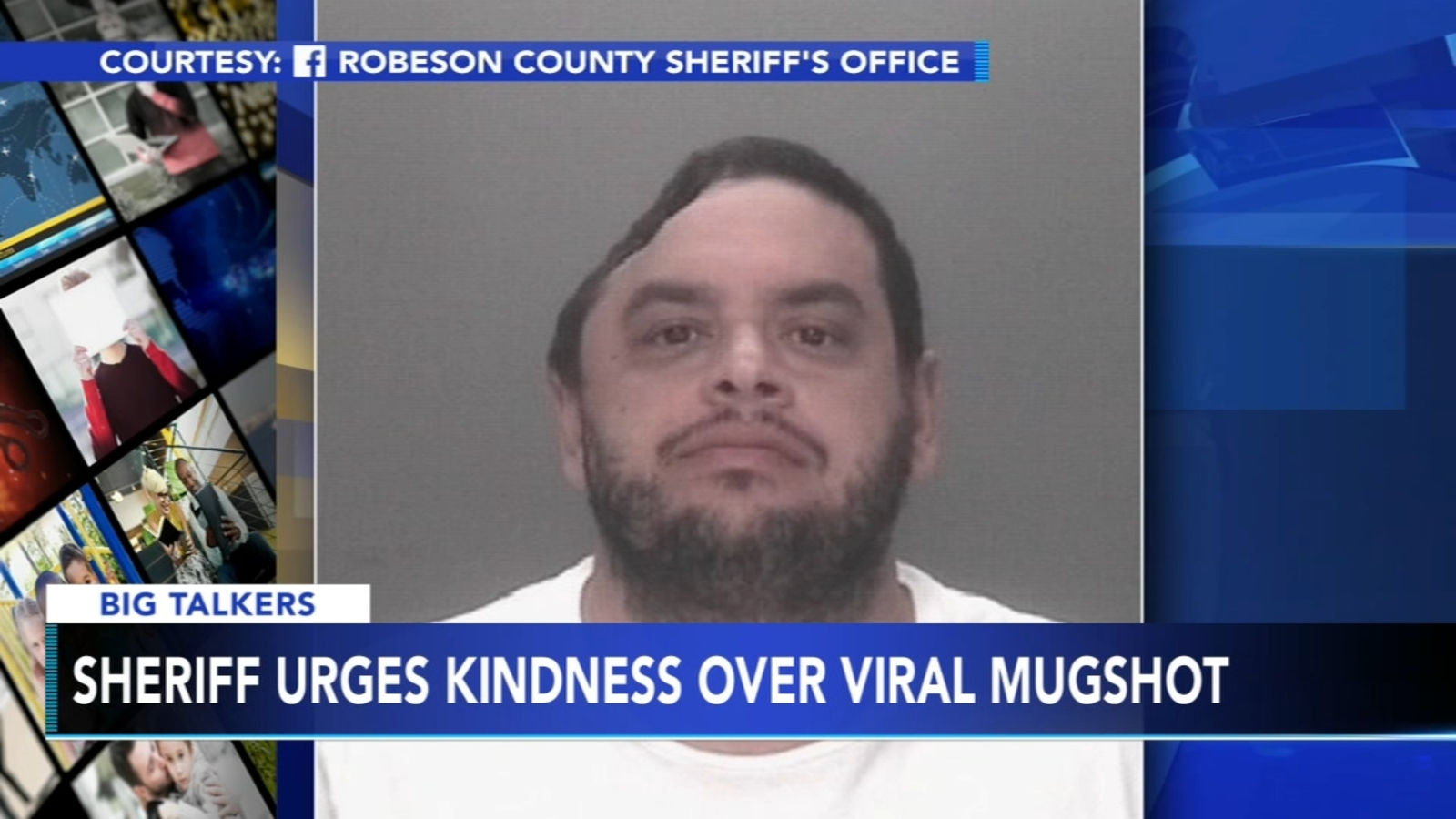 North Carolina police urge kindness over viral mugshot
