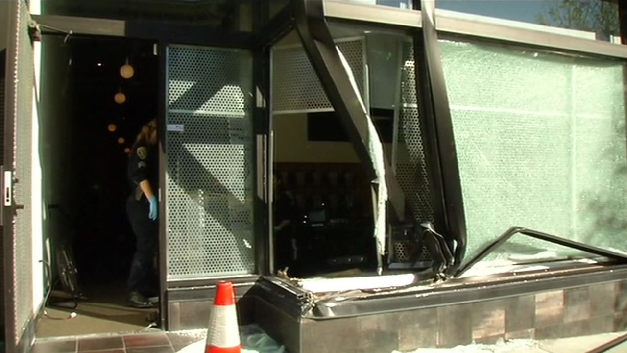 "Audio Vision store on California Street in San Francisco was the victim of a ""crash and grab"" burglary on Friday."