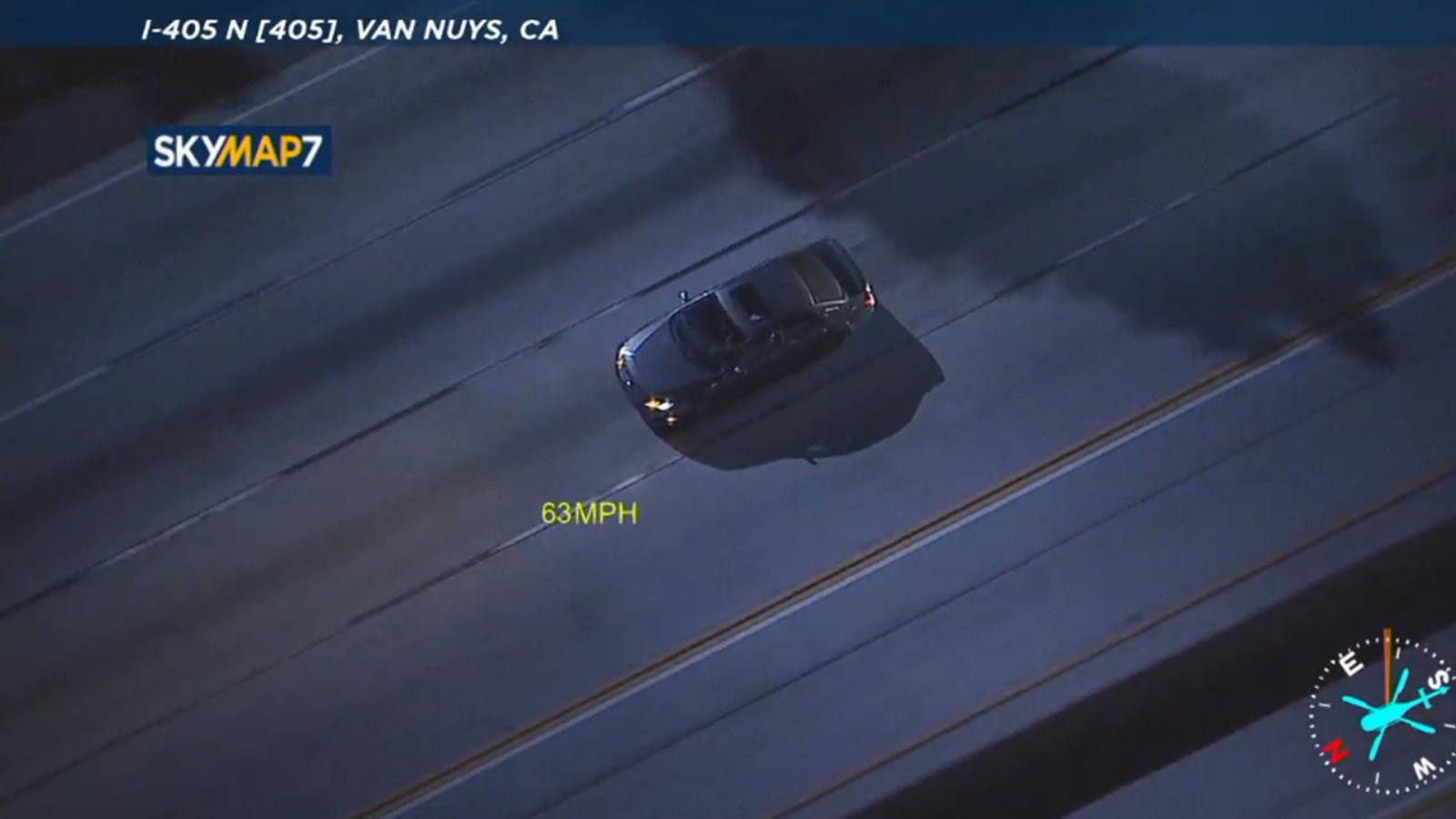 Car chase: Suspect flees from CHP in L.A. County