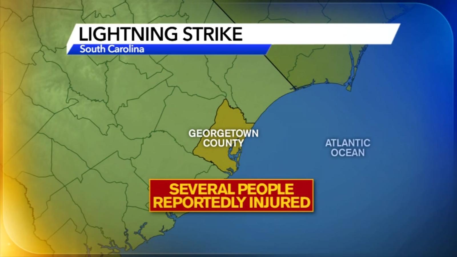 1 dead, as many as 12 injured in lightning strike in SC on July 4