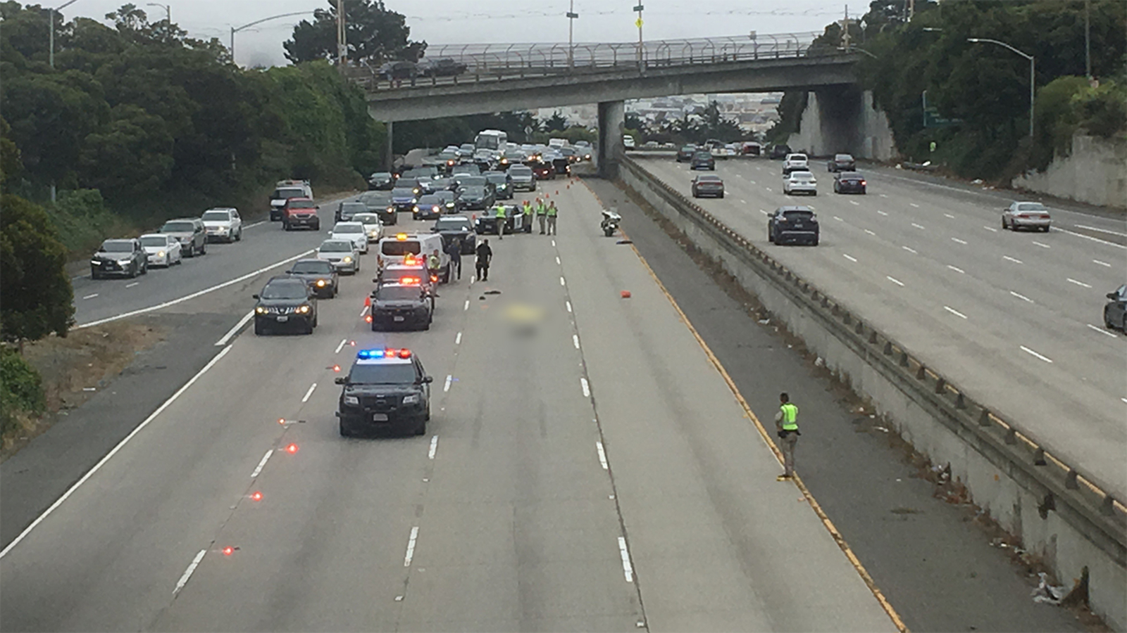 Assault suspect on the run hit by car, killed while trying to cross I-280  in San Francisco: Police