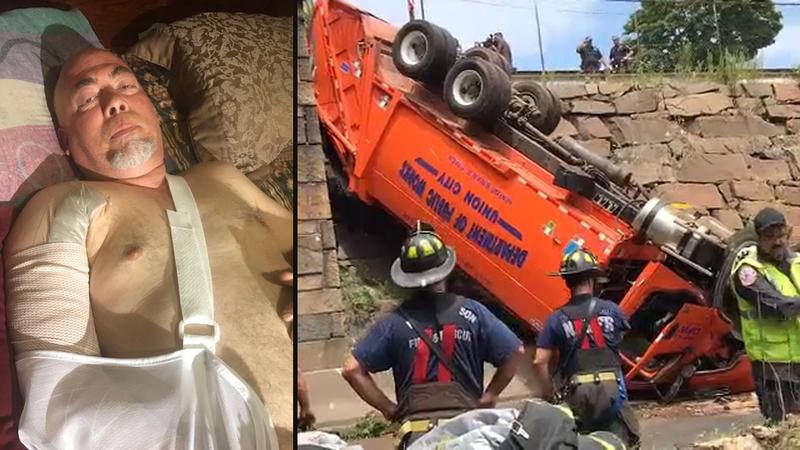 Driver in NJ truck crash says brakes failed: