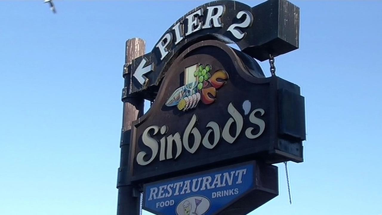 Sinbad's restaurant sign.