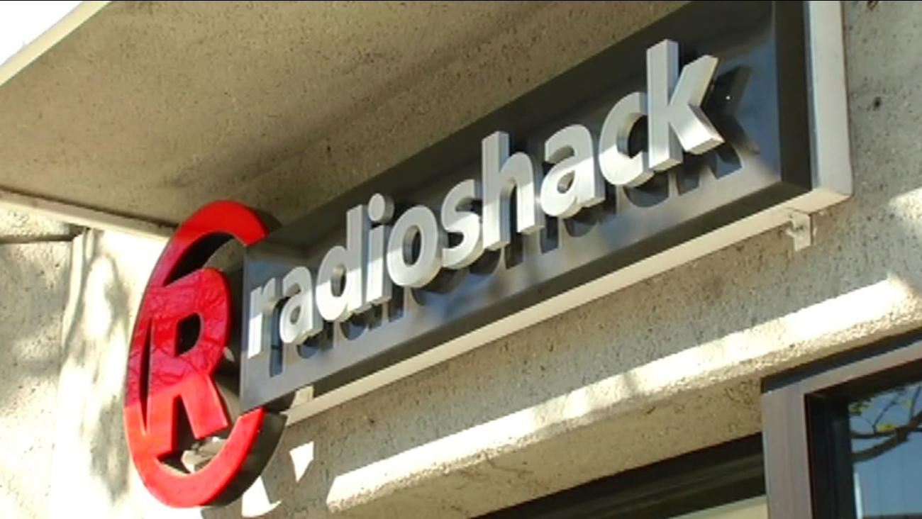 RadioShack store sign